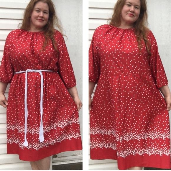 Dresses | Vintage Red White Polkadot Plus Size Dress | Poshmark